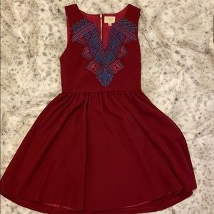 Embroidered cocktail dress
